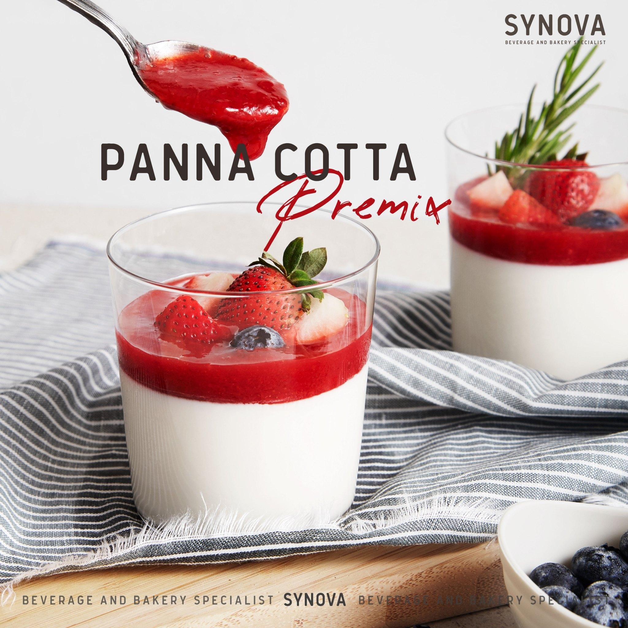 ผงขนมสำเร็จรูป : SYNOVA PANNA COTTA PREMIX (ส่ง)